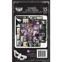 Prima - Finnabair Art Daily Planner Sticker Pad, Words You Need, Tarrasetti