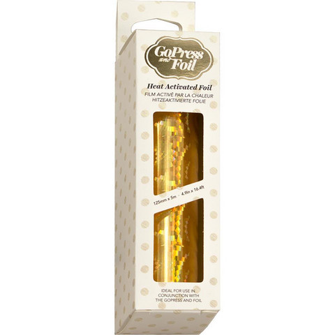 Couture Creations - Go Press and Foil, Gold-Iridescent Spiral Pattern (H), 5