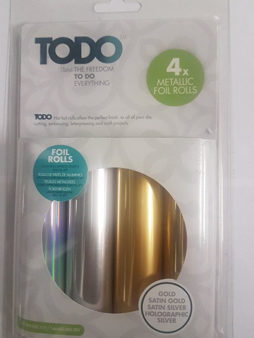 To Do - Metallic Foil Rolls (H), 4 arkkia
