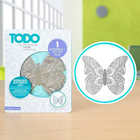 TODO  - Letterpress and Hot Foil Plate, Intricate Butterfly Large