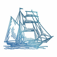 Couture Creations  - Hotfoil Stamp, Tall Ship