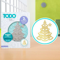 TODO - Hotfoil Stamp, Decorative Christmas Tree