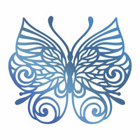 Couture Creations  - Hotfoil Stamp, Baroque Butterfly