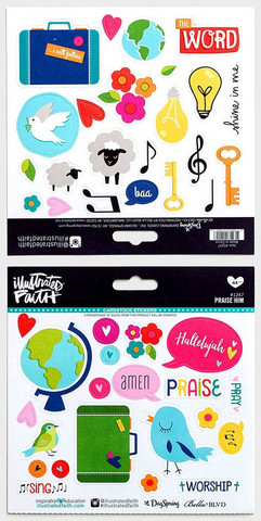 Illustrated Faith - Praise Him Stickers, Tarrasetti