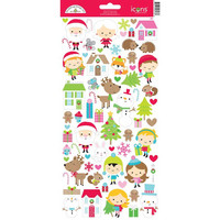 Doodlebug - Cardstock Stickers, Christmas Town Icons