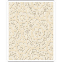 Sizzix - Texture Fades Embossing Folder By Tim Holtz, Kohokuviointitasku, Lace