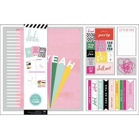 Heidi Swapp - Large Memory Planner Spiral Bound Boxed Kit, Color Fresh Oh Yeah