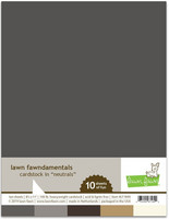 Lawn Fawn - Neutral Pack Cardstock, Paperikko, 8,5