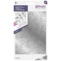 Gemini - Foil Stamp Die Elements, Ornate Swirls Background