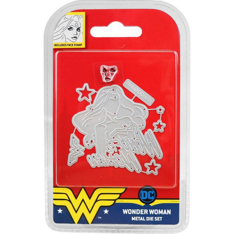 DC Comics - Wonder Woman Die and Face Stamp Set, Wonder Woman, Stanssisetti