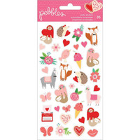 American Crafts - Pebbles Loves Me Puffy Stickers, Icons, Tarra-arkki