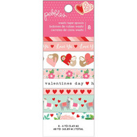 American Crafts - Pebbles Loves Me Washi Tape, Teippisetti, 8 rullaa