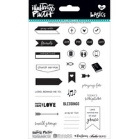Illustrated Faith - Basics Clear Stamps, Faith Planner, Leimasetti
