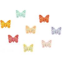 Dress It Up - Glitter Butterflies, Koristenappisetti