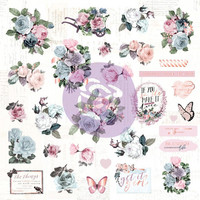 Prima Marketing - Poetic Rose Ephemera Cardstock & Acetate Die-Cuts, 49 osaa