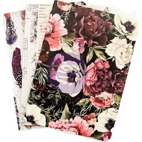Prima Marketing - Midnight Garden, Prima Traveler's Journal Notebook Refill, B6, 3kpl