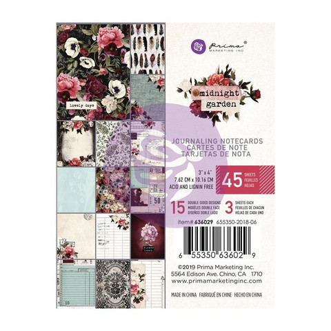 Prima Marketing - Midnight Garden Journaling Notecards, 3
