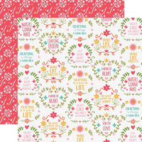 Echo Park - I Heart Crafting Double-Sided Cardstock 12