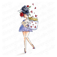 Stamping Bella - Curvy Girl With A Jar Of Hearts, Leima