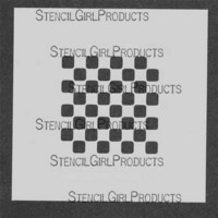 StencilGirl - Mini Checkers Small Stencil, Sapluuna, 4