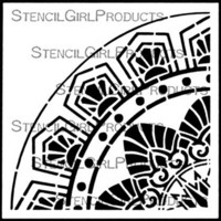 StencilGirl - Art Deco Flower Medallion Repeating Corner, Sapluuna, 4
