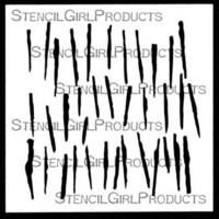 StencilGirl - Liner Brush, Sapluuna, 4