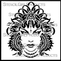 StencilGirl - Arani Goddess of Fire Stencil Small, Sapluuna, 6