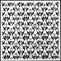 StencilGirl - Ornamental Floral Screen, Sapluuna, 6