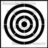 StencilGirl - Bullseye, Sapluuna, 6