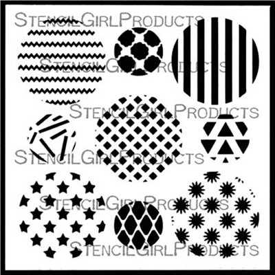 StencilGirl - Assorted Circles Set 1, Sapluuna, 6