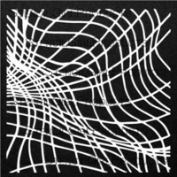 StencilGirl - Thick Crossed Line Waves, Maski, 6