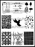 StencilGirl - ATC Mixup #2, Sapluuna, 9
