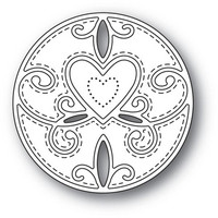 Memory Box - Scroll Heart Circle, Stanssi