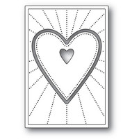 Poppy Stamps - Deco Shining Heart, Stanssisetti