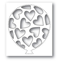 Poppy Stamps - Tumbled Heart Balloon Collage, Stanssi