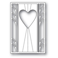 Poppy Stamps - Deco Marquis Heart, Stanssisetti