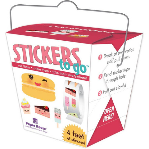 Paper House - Stickers To Go 4ft Roll, Sweet Treats, Tarrasetti
