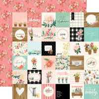 Carta Bella - Flower Market Double-Sided Cardstock 12
