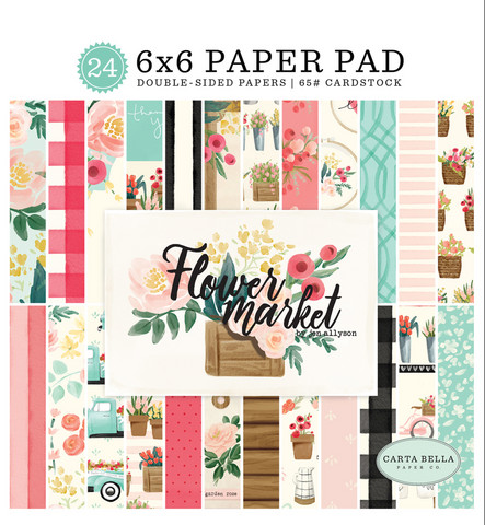 Carta Bella - Flower Market Double-Sided Paper Pad 6