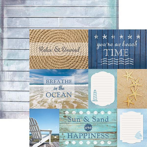 Paper House - Beach Tags, Double-Sided Cardstock 12