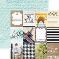 Paper House - France Tags, Double-Sided Cardstock 12