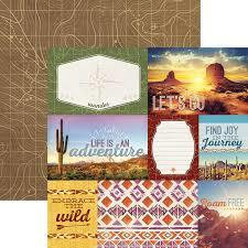 Paper House - Southwest Adventure Tags, Double-Sided Cardstock 12