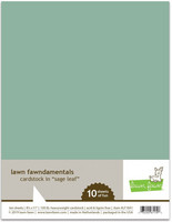 Lawn Fawn - Sage Leaf Cardstock 8,5
