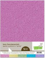 Lawn Fawn - Glitterkartonki, Spring, A4, 5 arkkia