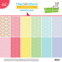 Lawn Fawn - Really Rainbow Scallops 12