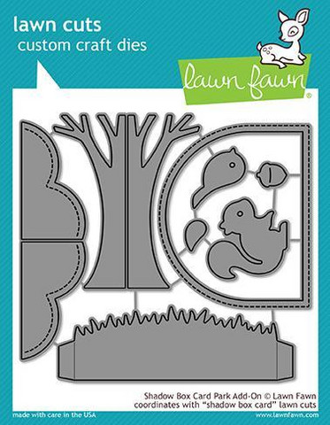 Lawn Fawn - Shadow Box Card Park Add-on, Stanssisetti