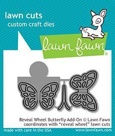 Lawn Fawn -  Reveal Wheel Butterfly Add-on, Stanssisetti