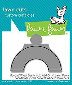 Lawn Fawn -  Reveal Wheel - Semicircle Add-On, Stanssi