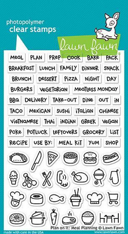 Lawn Fawn - Plan On It, Meal Planning, Leimasetti