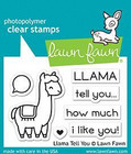 Lawn Fawn - Llama Tell You, Leimasetti